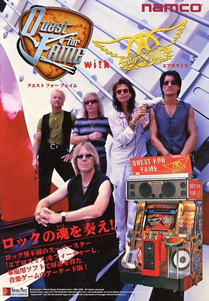 Quest for Fame Aerosmith Virtual Guitar game